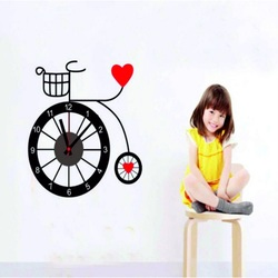 Wall clock girl and a bicycle. 3M Folia size 25x90 .