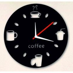 Wall clocks mirror peace Coffee bleck