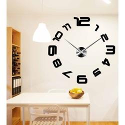 Trendy 3D wall clock made of plastic - CARMEN