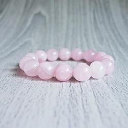 Bracelet - rose quartz - Ø FI 12 mm