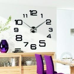 Wall clock large black chop