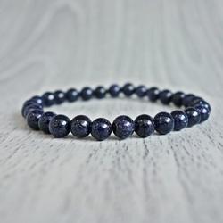 Bracelet - aventurine blue - Ø FI 6 mm