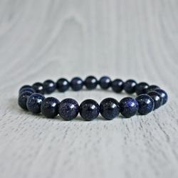 Bracelet - aventurine blue - Ø FI 8 mm