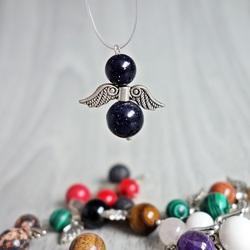 Pendant Angel of Minerals - Aventurine Blue
