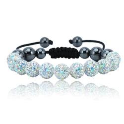 Shamballa bracelet - WHITE RAINBOW