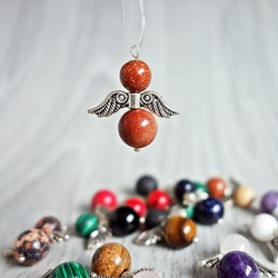 Pendant Angel of Minerals - Golden Aventurine (Sunstone)
