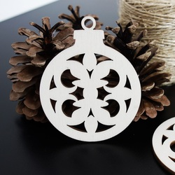 Christmas decoration for joy made of wood, size: 79x90 mm
