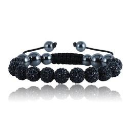 Shamballa bracelet - BLACK ARUT