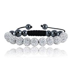 Shamballa bracelet - WHITE CRYSTAL