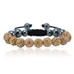 Shamballa bracelet - BEIGE LUISANA
