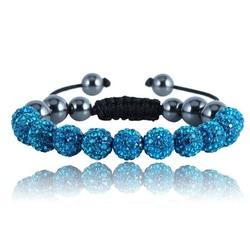 Shamballa bracelet - BLUE LAREDO