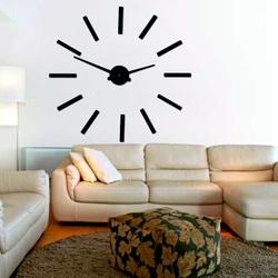 Modern wall clock of 2D MIRROR plexiglass