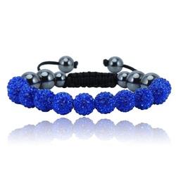 Shamballa bracelet - DARK BLUE MONET