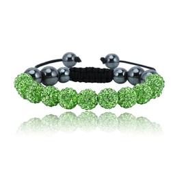 Shamballa bracelet - GREEN DANILO