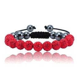 Shamballa bracelet - RED ALESSIA