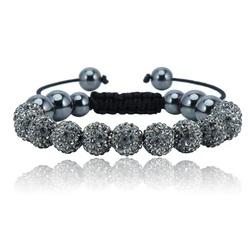 Shamballa bracelet - GREY LABLE