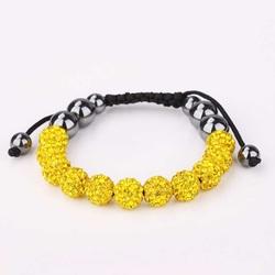 Shamballa bracelet - YELLOW MONTANA
