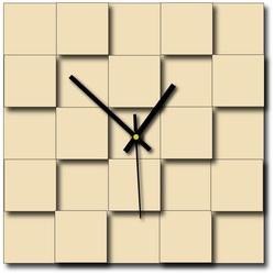 Modern wall clock square (clock on plastic wall) DEKOFER