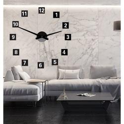 Large Wall Clock Square (Clock on Plastic Wall) 2D DEKOR