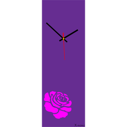 Wall clock rose (modern clock on the wall) color: rose pink