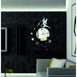 Wall clock mirror (mirror clock on wall) DAVIN, 35x45 cm