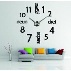 Modern clock on the DIY DRYWALL wall clock