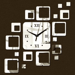 Clock on the wall modern square 50x40 cm FIGARO