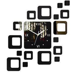 Clock on the wall modern square 50x40 cm FIGARO MIRROR