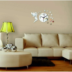 Wall clock to the living room as a decoration, Fairy, 40x40 cm