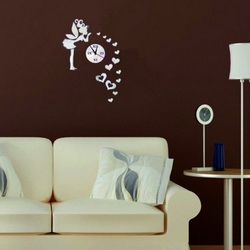 Wall Clock in the Children's Room, The Fairy of Love, 40x70 cm