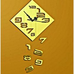 Wall clock Falling numbers, 35x35 cm