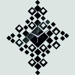 Wall clock into the living room squares 45cm X 45cm DIY HEUREKA