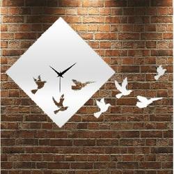 Wall Clock Mirror Dove, 30x30 cm