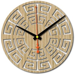 Wall clock made of plywood wood 4 mm colorant COLOR