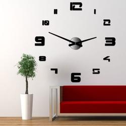 Wall clock sticking big DIY STRONGO plexiglass