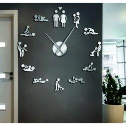 Wall clock kamasutra mirror DIY 3D HROBESO