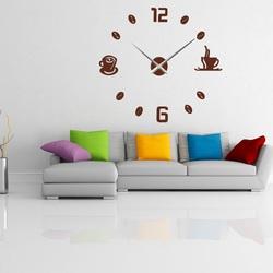 Wall clock sticking COFFE PLEXI