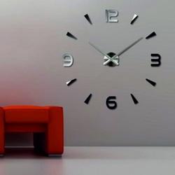 Wall clock mirror adhesive 3D DIY Foam Huawet