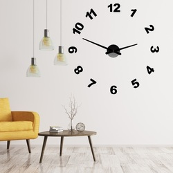 Design wall clock with PLEXI OPTIC numbers