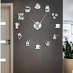 Wall Clock Mirror Binding Modern Clock Coffee Coffee ZRNO