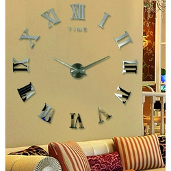 Roman Clock Wall Clock DIY 3D clock on the wall as a HUGO image