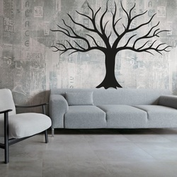 Picture of the wall Wooden decoration of the plywood of the fall tree autumn Dimension: 600 x822 mm