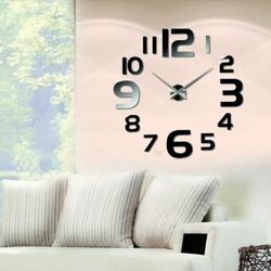 Black wall clock wealth.