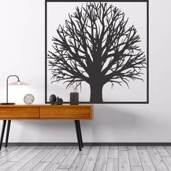 Wooden image of a tree wall made of plywood tree GEMER