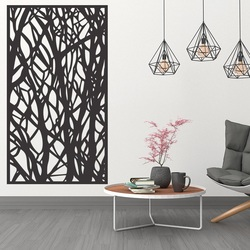 Wooden decor painting on the wall made of wooden plywood Topol HAVULKY