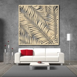 Wall painting carved from wooden plywood Topub LUBELA