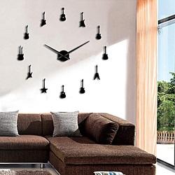 Wall clock Gitara modern goggle mirror clock DIY GITARA