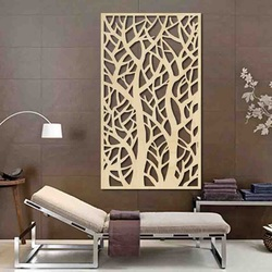 Wall painting of a tree made of wooden plywood Topoľ LÝDIA