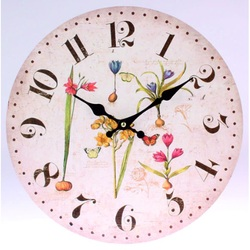 Clock made of wood MDF flowers and butterflies. Fi 30 cm