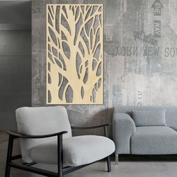 Wall painting of a tree made of wooden plywood Topoľ LÝDIA 2
